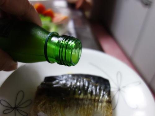 沖縄シークヮーサー果汁をかけた焼き鯖